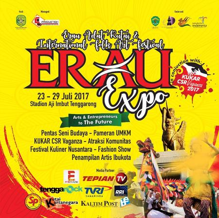 Jadwal Erau Adat Kutai Dan The 5th International Folk Arts Festival (EIFAF), Tenggarong - Kutai Kartanegara, 22 - 30 Juli 2017