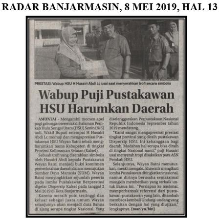 Wabup Puji Pustakawan HSU Harumkan Daerah